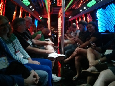 Party Bus leaving Stone Brewing World Bistro & Gardens - Libery Station, after dinner on Saturday of BBC14
