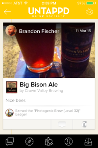 Crown Valley Big Bison Untappd Check-in