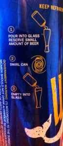 Six Row Whale Ale Pour Instructions