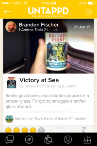 Victory at Sea Untappd Check-in